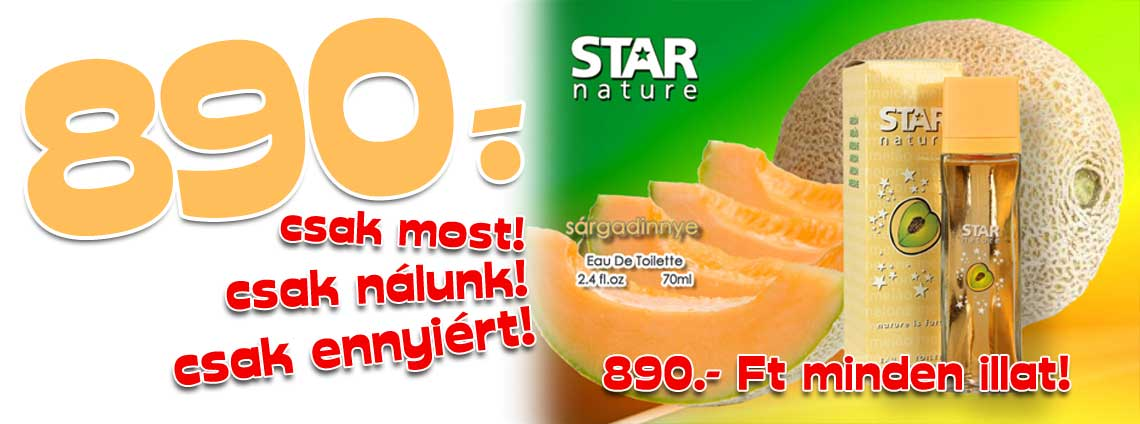 Sárgadinnye illatú parfüm 70ml EDT