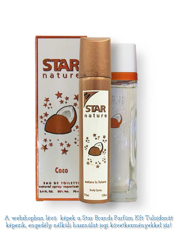Star Nature Kókusz illatú 70ml EDT Body Spray 75ml